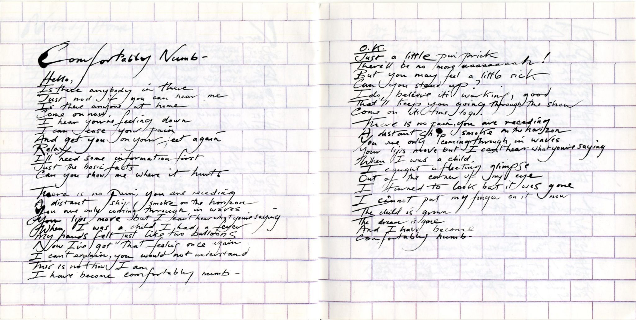 an analysis of the wall by pink floyd Pink floyd was inescapably crushed under the weight of the wall wright left before the release of the final cut , a dour and aptly-named disc on which gilmour and mason did what they were told in the studio by waters.